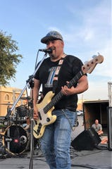 Orlando Estrada plays for 360, an Abilene-based rock band that performed in June at Party on the Patio.