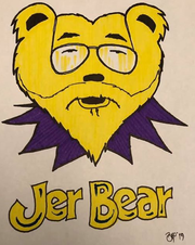 Bill Van Pelt created this logo for the Jer Bear's performance at the first Harper M. Stantz Rec Park Music Fest.
