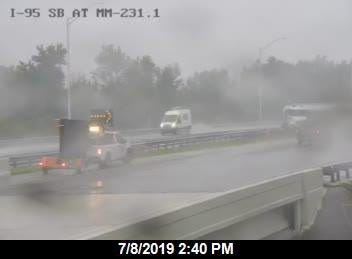 A truck carrying fuel crashed on southbound Interstate 95 in northern Brevard County just before 3 p.m., according to Brevard County Fire Rescue.