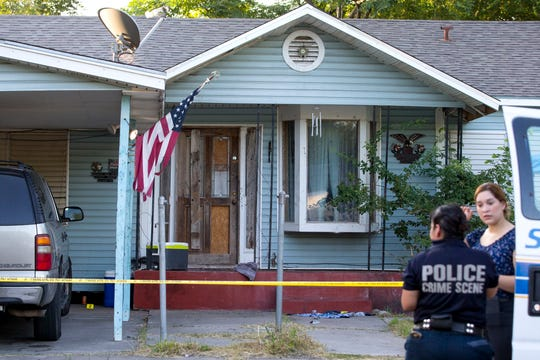 A 30-year-old man was found with multiple stab wounds about 4:49 a.m. in the 2400 block of Niagara Street. He was taken to a hospital, where he died. Police and crime scene investigators investigate the scene on Monday, July 8, 2019.