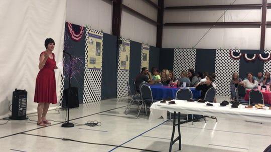 Glenetta Van Blarcum recalls the memories she's made over the years at Calallen Baptist Church on July 7, 2019.