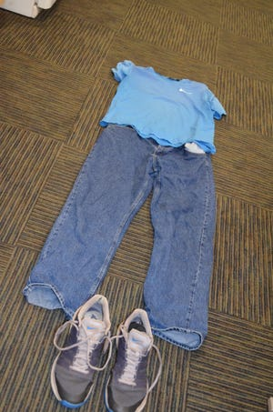 The clothing of a man found unconscious and disrobed near the casino on July 3.