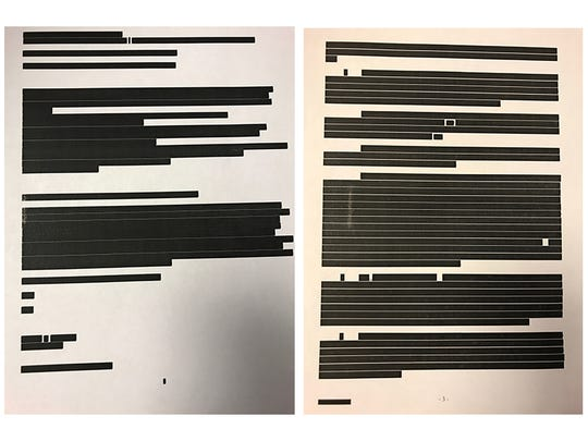 Hamilton County officials redacted every word from emails related to their talks with the Bengals about a new lease.