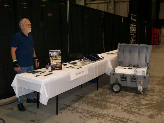 Jerry Sorgento (pictured), founder and CTO, and Rosalie Muskatt, general manager of New Age Solar (NAS), presented  components that comprise The Mighty Power System to the public attending the 2019 Edison Green Fair on June 22 at the New Jersey Convention and Exposition Center in Edison.