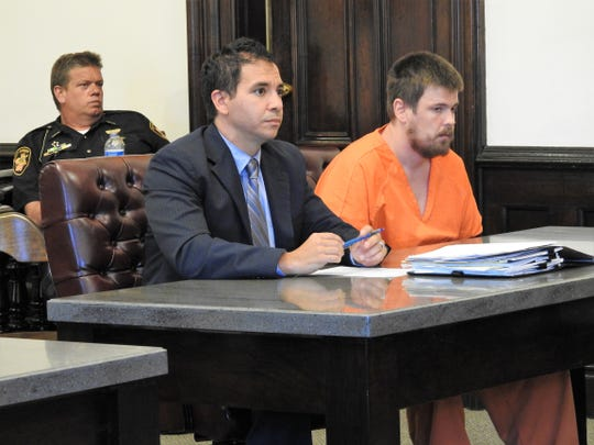 Attorney Edward Itayim  represented Joshua Hunley this week in Coshocton County Common Pleas Court. Hunley received 60 months in prison for his role in a robbery ring last August. Hunley was accused in participating in taking items from storage units in Warsaw and stealing a pop machine from a business near Dresden.