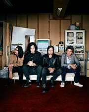 Jack White (second from left) and Brendan Benson (far right) of the Raconteurs will play Tuesday at Third Man Detroit.