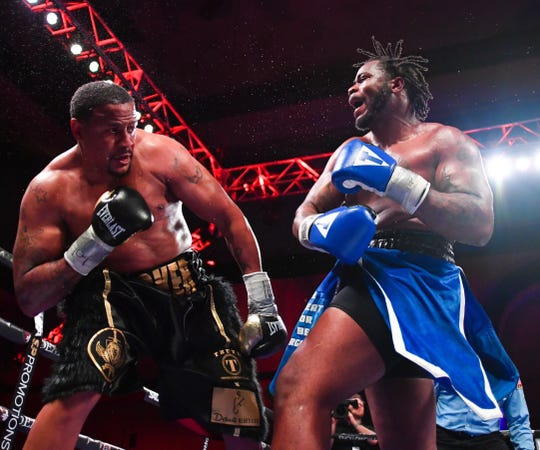 Jermaine Franklin (right) during his last fight on Showtime in April.