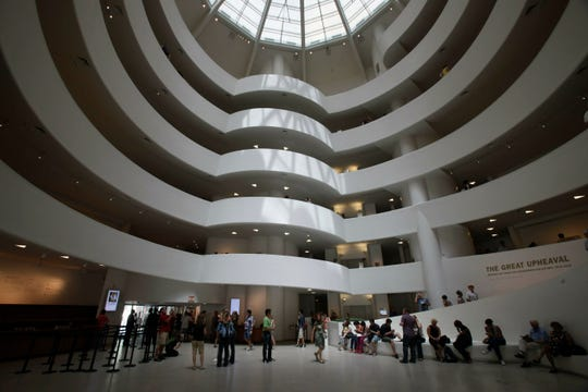 This May 31, 2011, file photo, shows the interior of the Solomon R. Guggenheim Museum, architect Frank Lloyd Wright and built from 1956-1959, in New York.