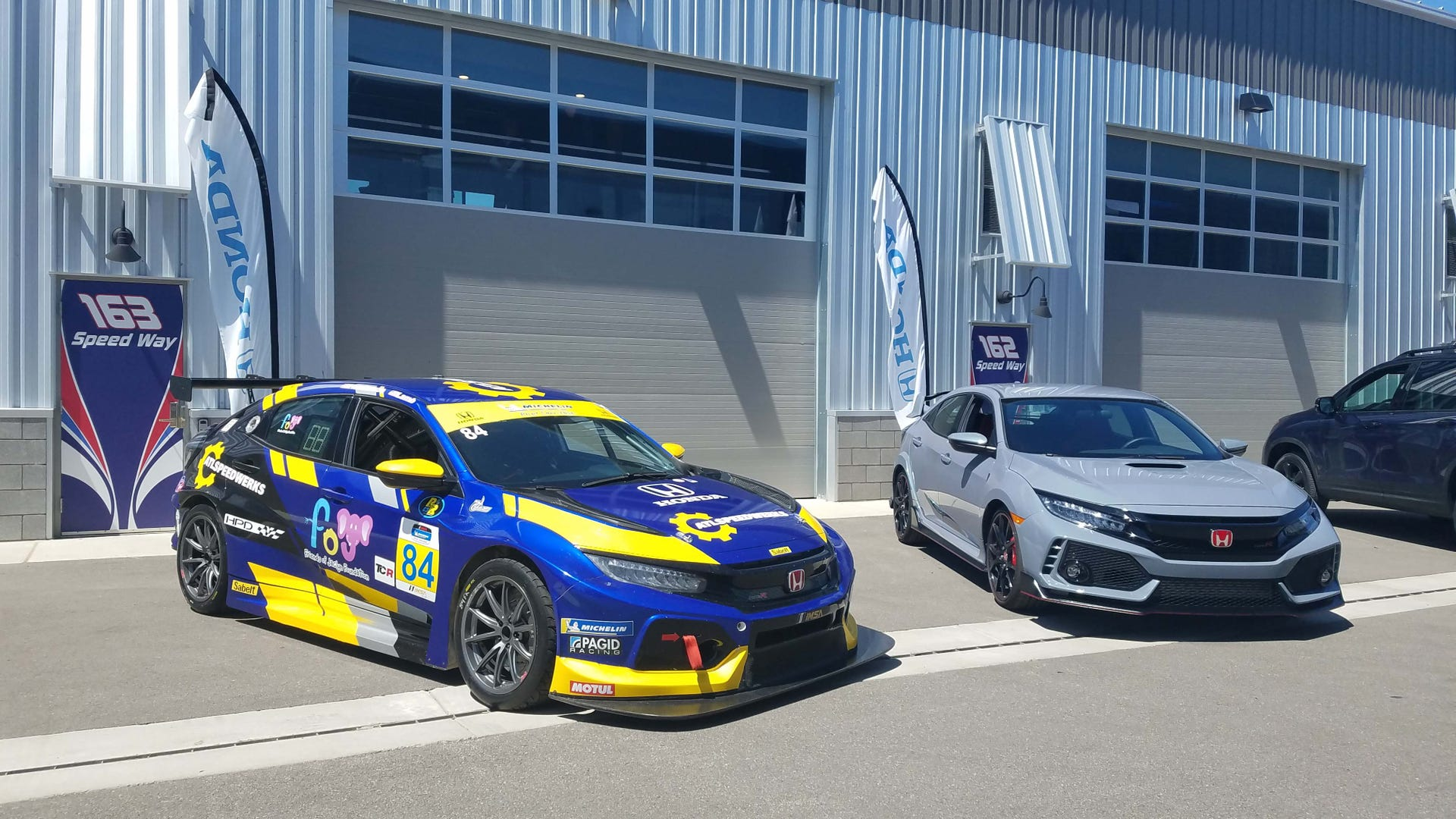 Honda Civic Type R and TCR race car