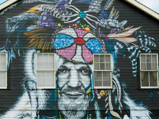 This mural of musician Dr. John, seen in a Feb. 22, 2019 photo, is among nearly two dozen created through Neal Morris's NOLA Murals Project after Morris sued New Orleans to overturn its murals regulation. The lawsuit was scheduled for a hearing Tuesday, July 8, on Morris' request to decide it without a full trial.