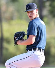 Pitching prospect Matt Manning has shown promise in the minor leagues.