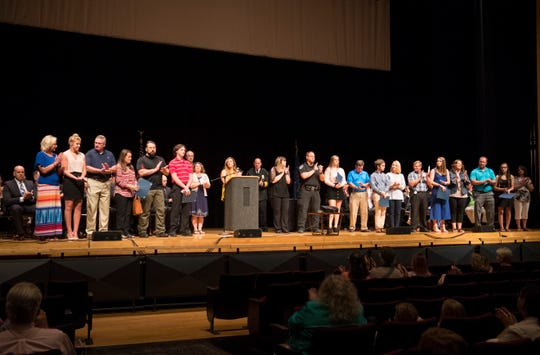 Scholarship recipients  are recognized during the EPD Promotion, 