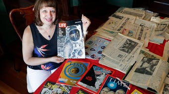 Fifty years after Apollo 11 landed on the moon, one Green Bay woman still has the items she collected as a teenager commemorating the historic event.