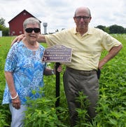 To honor the time and research Bob Beck and his wife Ellie have contributed to the restoration of The Bellevue Hospital's prairie and wildflower garden, the garden was officially dedicated as The Bob and Ellie Beck Centennial Prairie and Wildflower Garden.