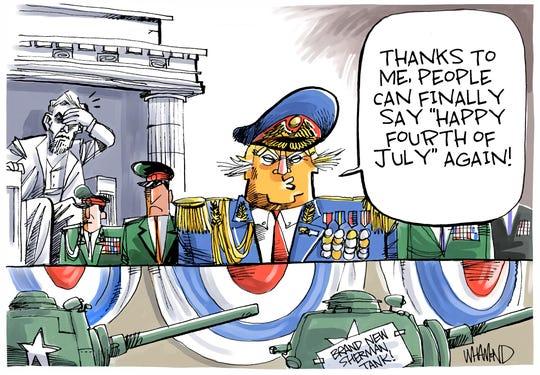 Trump on July Fourth.