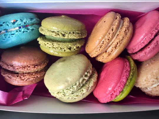 A box of macarons from Le Macaron in downtown Fort Myers.