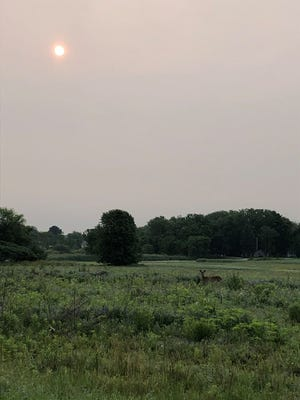 Smoke from wildfires in Canada has created hazy conditions across most of Wisconsin.