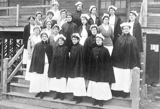 Camp Sevier's hospital operated for almost five years after the World War I Armistice, but in 1919 the full contingent of nurses was still almost entirely occupied with cases of Spanish flu.