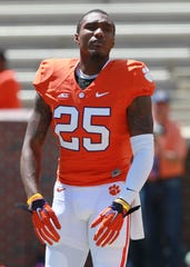 Cordrea Tankersley (25) had nine interceptions while playing for Clemson.