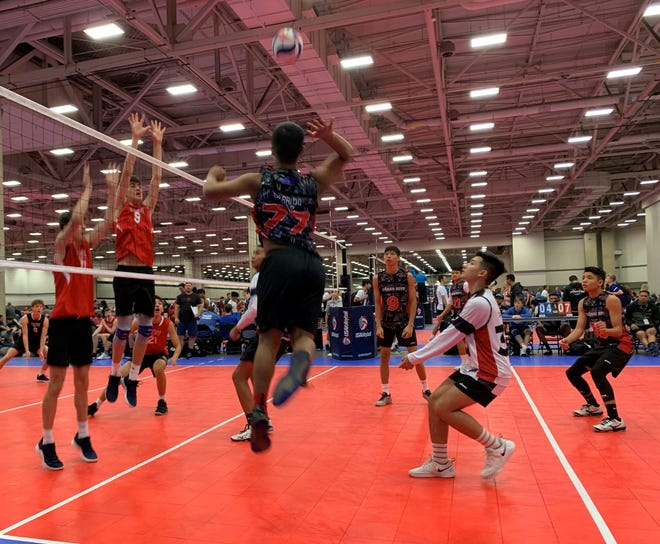 The Guahan Boys 16-1 compete in their final day of competition at the 2019 USA Boys' Junior National Championships at the Kay Bailey Convention Center in Dallas, Texas.  The team finished in third place of the Flight 3 Bracket.