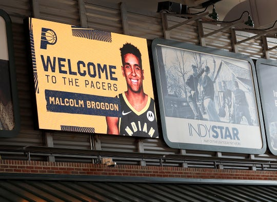 The Indiana Pacers welcome Malcolm Brogdon to the team at Bankers Life Fieldhouse on Monday, July 8, 2019.