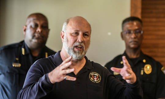 Ed Malinowski of the National Transportation Safety Board, in Oxford, Miss., on Monday, July 8, 2019, speaks about a Saturday, July 6, 2019, small plane crash at the Ole Miss Golf Course that eventually claimed the life of the pilot Lake Little, age 18, of Starkville, Miss.