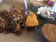 Last Days of Autumn Brewing offers a pulled pork plate, which comes with a choice of two sides.
