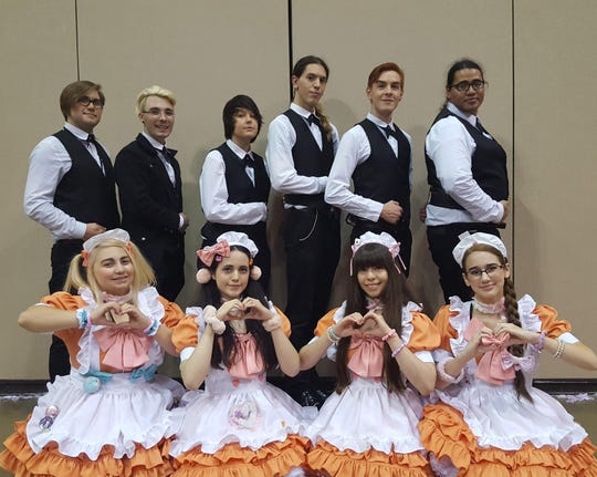 Anime Blues Con includes La Parfait, a cafe of maids and butlers who serve and perform for the customers. Matthew Santirojprapai, director of media and communications, said Anime Blues Con started with 1,000 attendees and he expects about 5,000 this weekend.