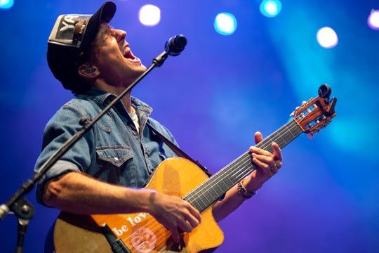 Jason Mraz performs at the BMO Harris Pavilion Sunday night at Summerfest.