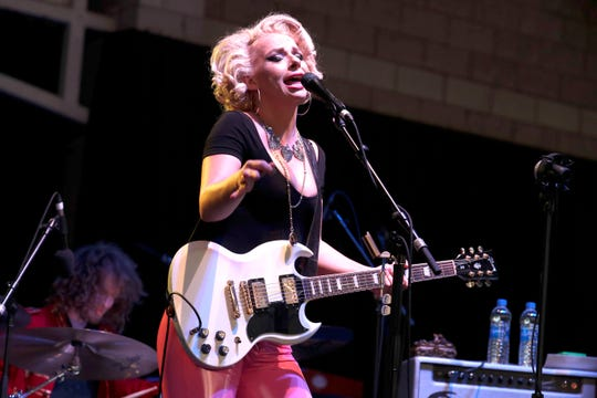 Samantha Fish performs at the Johnson Controls World Sound Stage at Summerfest Sunday night.