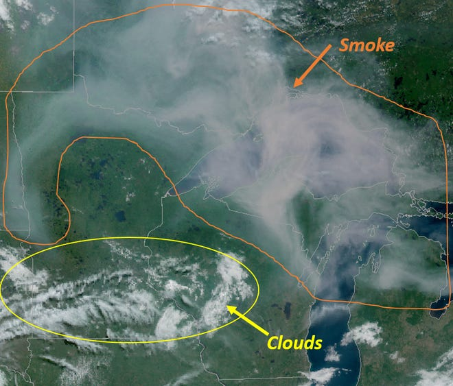 Smoke from fires in Ontario cover portions of Wisconsin