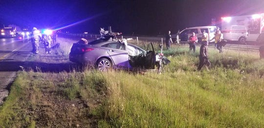 A Henry County woman was fatally injured Friday night in a two-vehicle accident on Interstate 70.