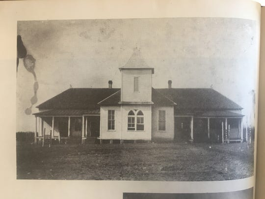 Rockvale High School in the early 1900s as seen in a Rockvale history book.