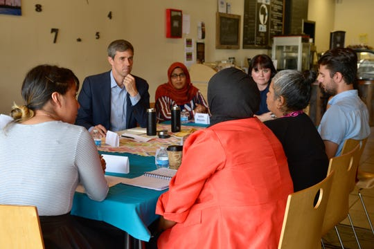 Beto O'Rourke hears from immigrants at a roundtable with TIRRC Votes on July 8, 2019 in Nashville.