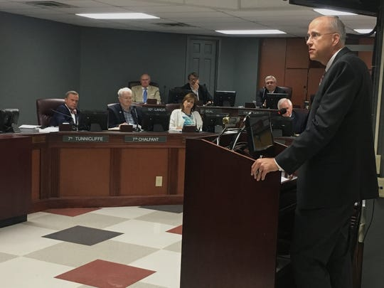 Williamson County Schools Superintendent Jason Golden informs the county commission Monday that the school district received an extra $1.7 million in growth funds from the state late last week (for a total of $4.2 million).