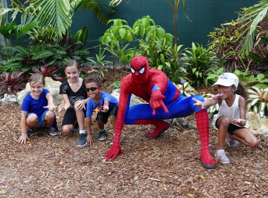 Spider-Man and Thor will meet with kids at the Naples Zoo this weekend, July 12 through 14.