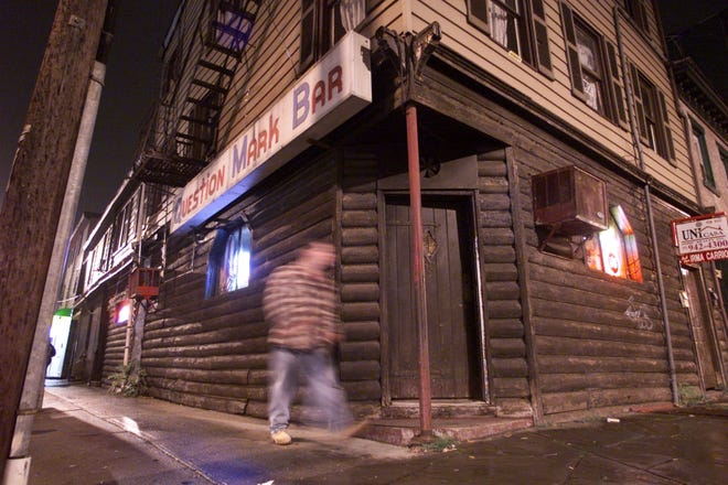 This file photo shows the Question Mark Bar in Paterson.