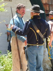 The uniform  marked the loyalty in the 1800s, but all at Fort Stanton LIVE! are friends today.