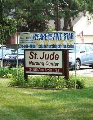 St. Jude Nursing Center at 34350 Ann Arbor Trail in Livonia.