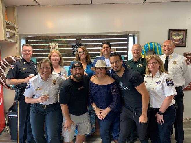 The Pensacola Police Department, Escambia County Sheriff's Office, Pensacola Fire Department, Escambia County Emergency Medical Services and Escambia County Fire Rescue raised the equivalent of 21,314 pounds of food during Donut Strike 2019.