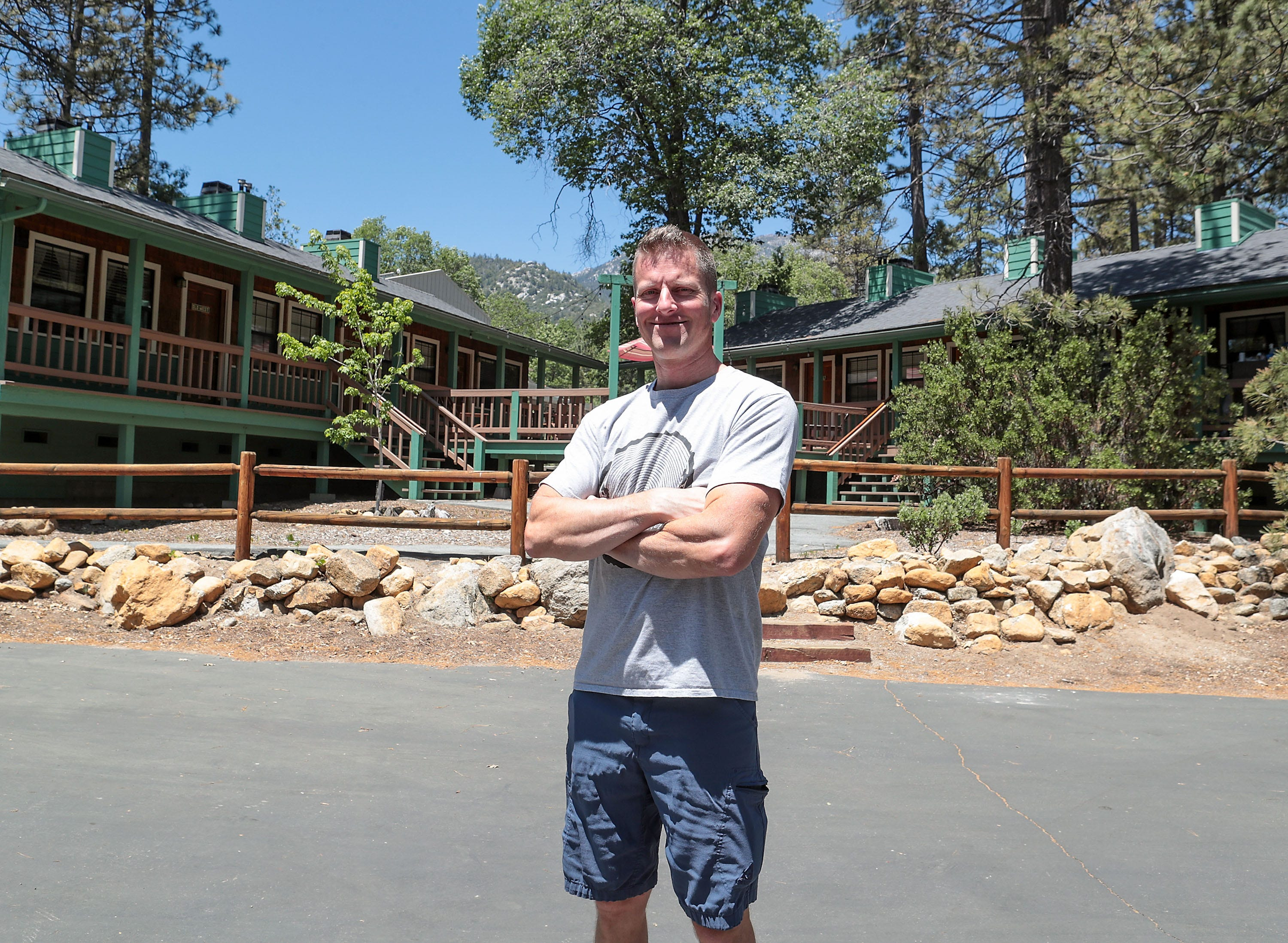 Josh White, owner of the Idyllwild Inn, had to evacuate his guests during the Cranston Fire in 2018 in Idyllwild.