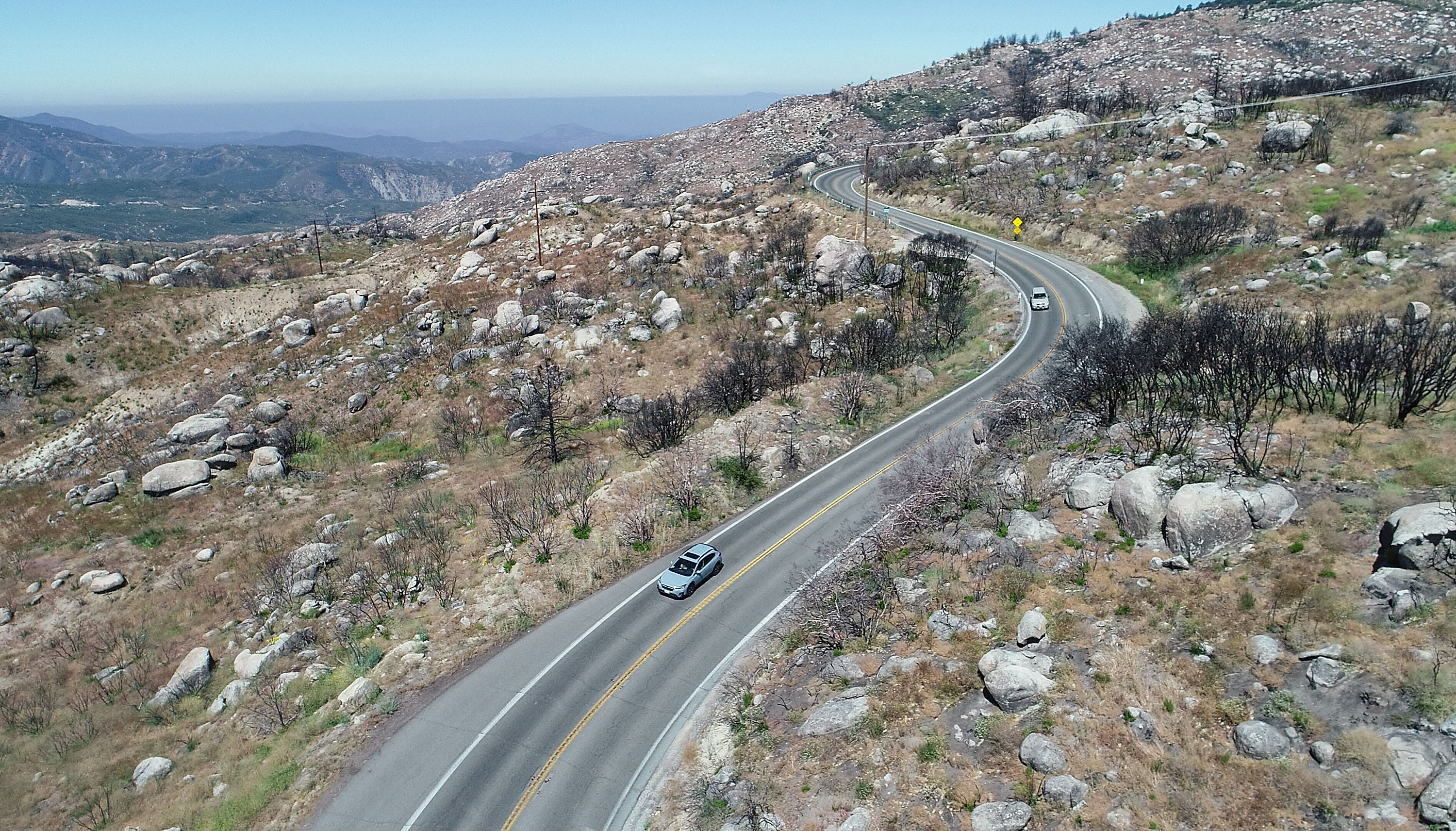 Curvy, steep and only two lanes, Highway 243 would be an evacuation route for Idyllwild, California, but a washout has left part of the road closed.