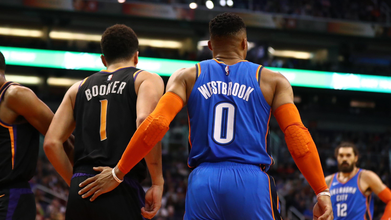 best sneakers e2d01 206fd Russell Westbrook trade: Phoenix Suns fans split on return