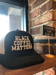 Black Coffee Matters merchandise at Sweetz Cold Brew Coffee in Gilbert.