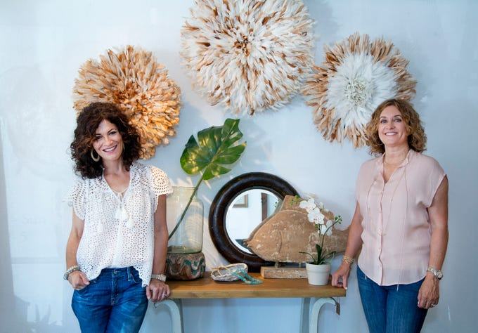 Sophia Kobs, left,  and Shelley Adelson are co-owners of Piece & Story, a vintage store, in Scottsdale. They met while raising their sons and became fast friends because of their love for antique hunting.