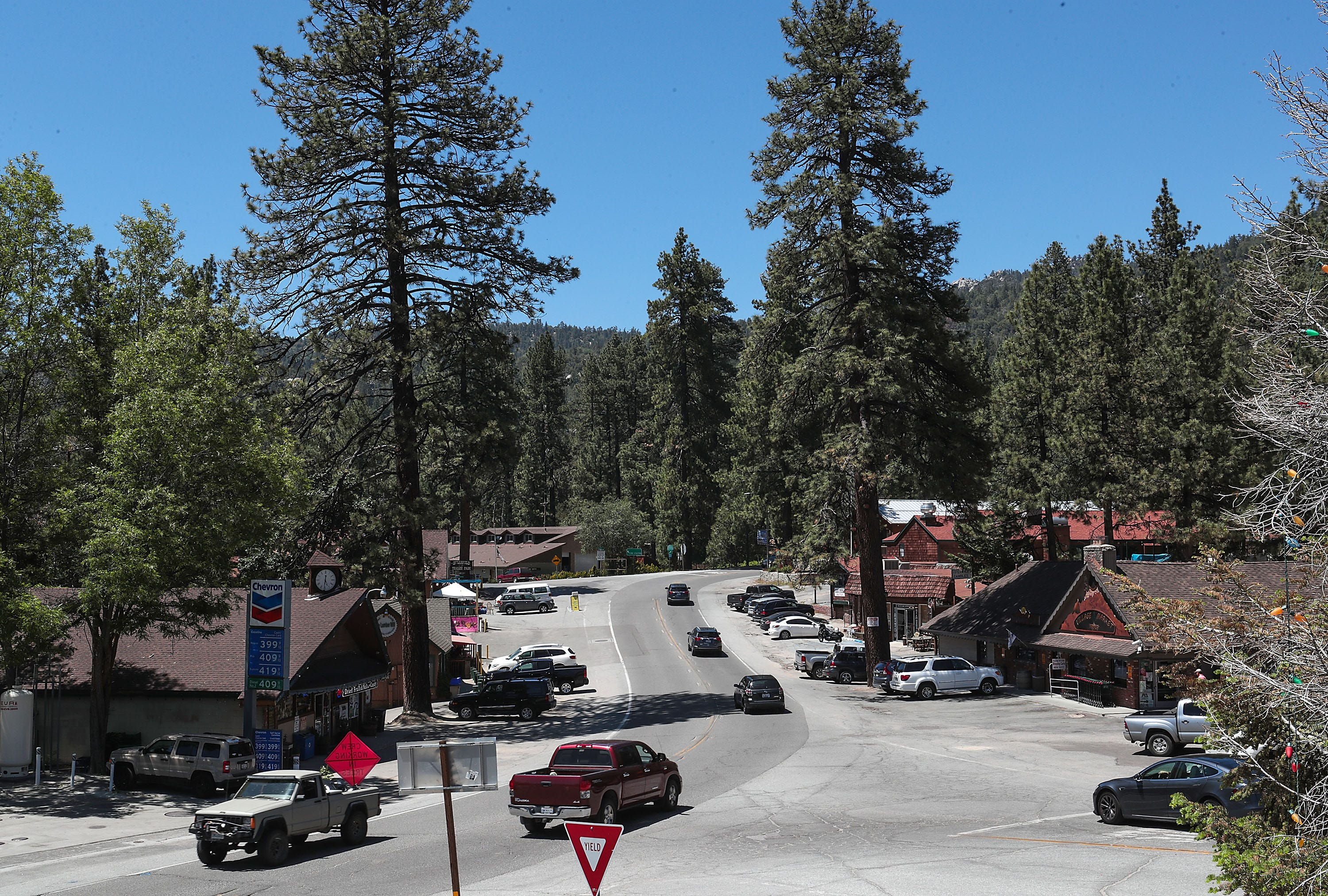 Highway 243 in Idyllwild, Calif. is the only paved road in and out of the mountain town, June 13, 2019.