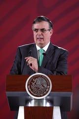 Marcelo Ebrard, secretario de relaciones exteriores de México.