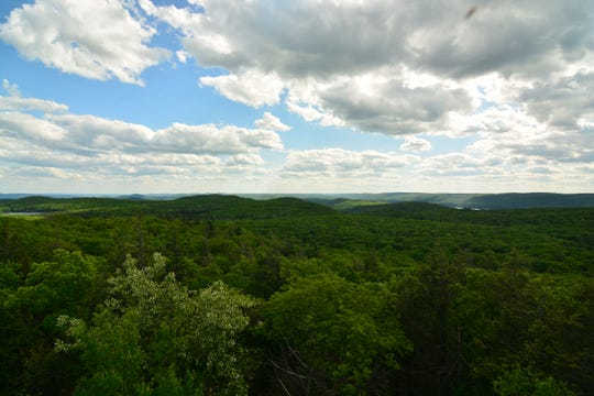 The fire tower at Sterling Forest offers scenic views of the valley.