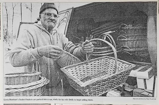 Lewis Reinhart carrying on the family basket making tradition.