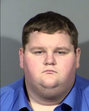 Brian Love, 26, stands charged with murder with a deadly weapon in Las Vegas.